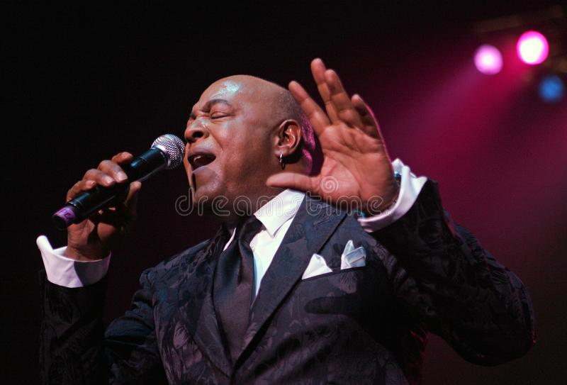 Peabo Bryson performs in Concert. Peabo Bryson performs at the Seminole Hard Rock Hotel and Casino in Hollywood, Florida on November 14, 2010 stock image