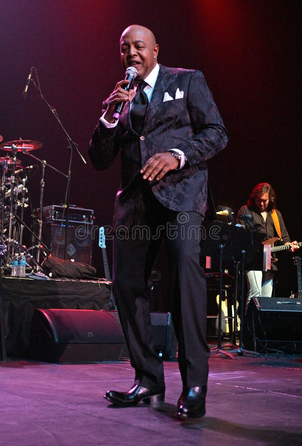 Peabo Bryson performs in Concert. Peabo Bryson performs at the Seminole Hard Rock Hotel and Casino in Hollywood, Florida on November 14, 2010 stock images