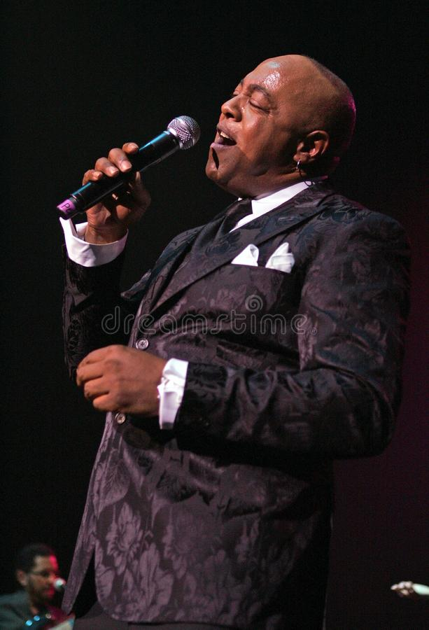 Peabo Bryson performs in Concert. Peabo Bryson performs at the Seminole Hard Rock Hotel and Casino in Hollywood, Florida on November 14, 2010 royalty free stock photo