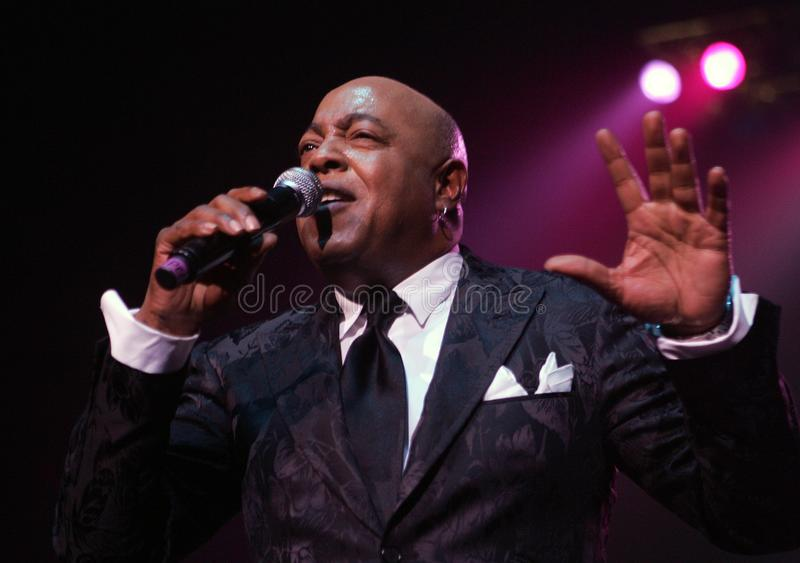 Peabo Bryson performs in Concert. Peabo Bryson performs at the Seminole Hard Rock Hotel and Casino in Hollywood, Florida on November 14, 2010 royalty free stock image