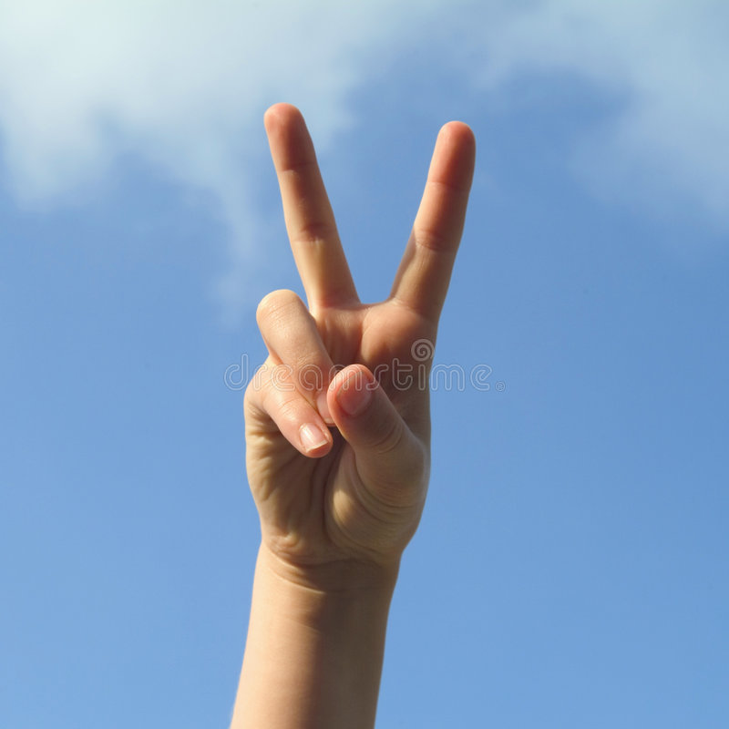 Download Peace stock image. Image of fingers, sign, okay, blue, peace - 302487