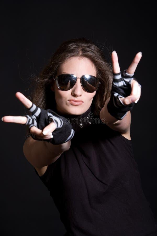 Download Peace stock photo. Image of woman, incognito, attitude - 5531312
