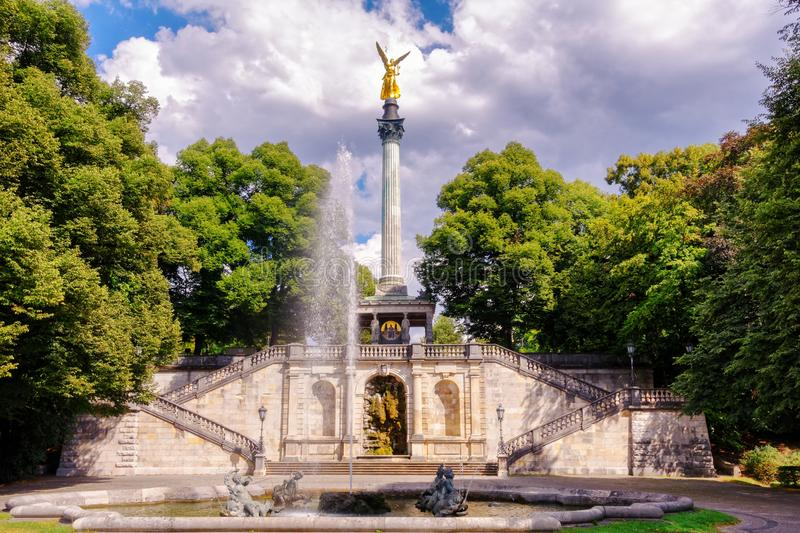 The Peace Angel in Munich Bavaria. Germany royalty free stock photography