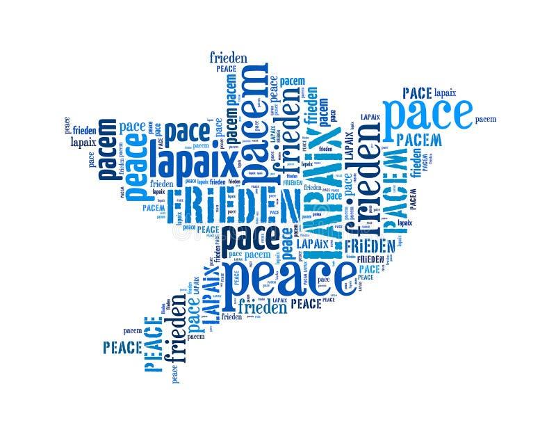 Peace arrangement concept word vector illustration