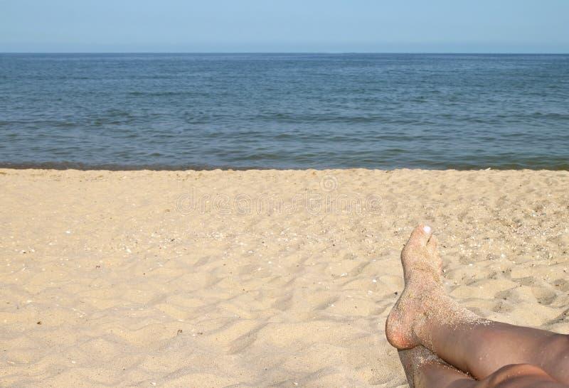 Peace on the beach. stock photography