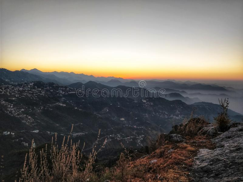 Dehradun City VIew from Mussoorie stock images