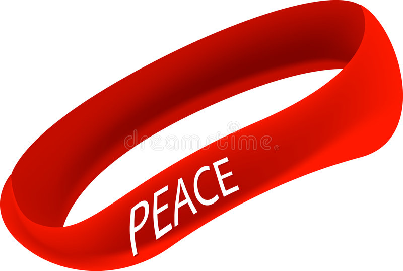 Peace Bracelet royalty free illustration