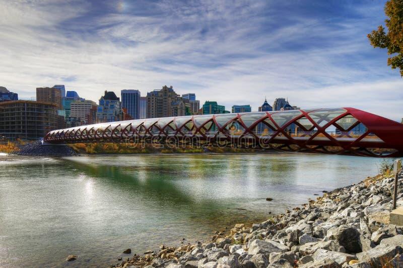 The Peace Bridge in Calgary, Canada stock image