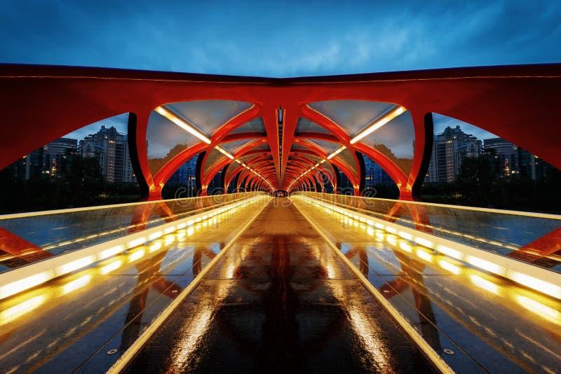 Peace Bridge Calgary royalty free stock images