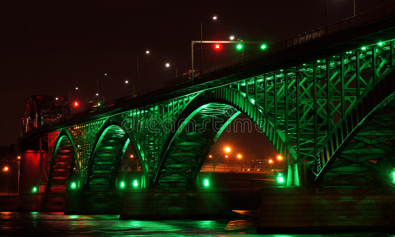 Download Peace Bridge at Night stock photo. Image of lighting - 28226440