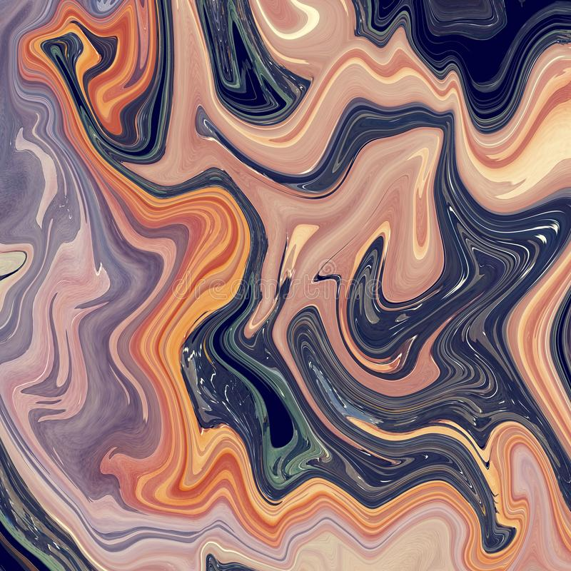 Liquid Marble Effect abstract Muted Tones. Peace is called Westminster liquid marble effect as the colors chosen are from Westminster London stock illustration
