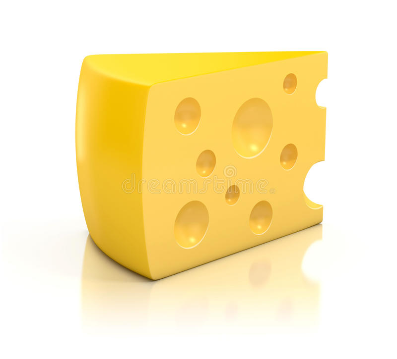 Download A peace of cheese stock illustration. Image of grated - 23117229