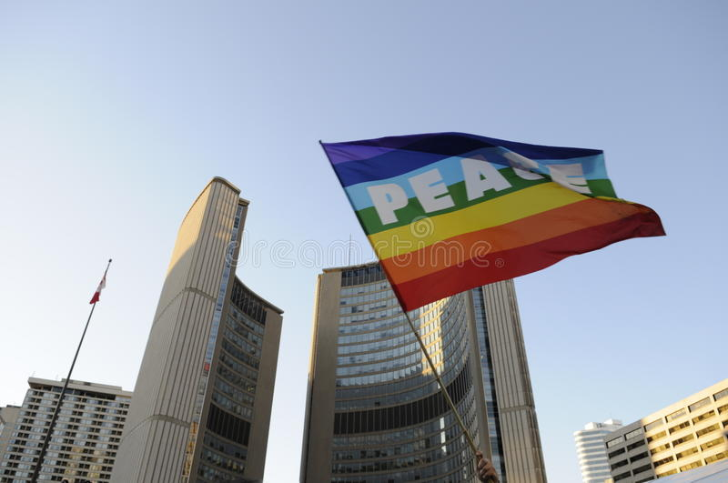 Download Peace at city hall. editorial image. Image of hoisted - 26745770