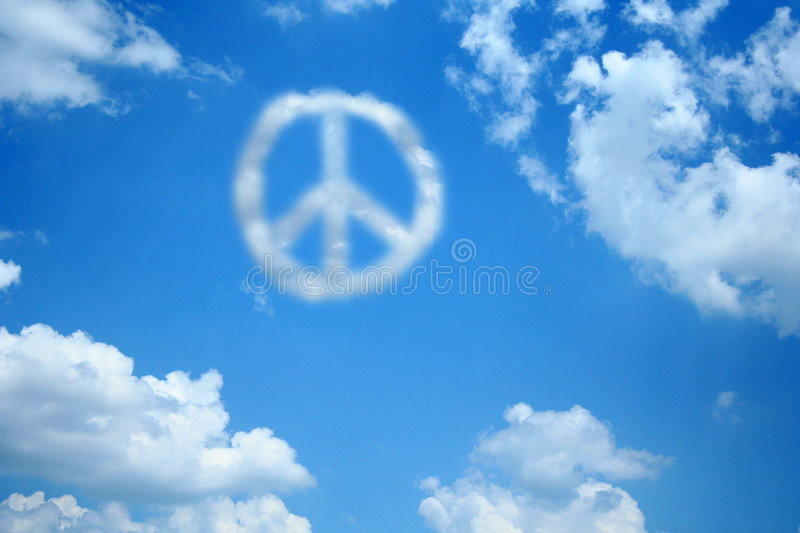 Peace Cloud royalty free stock photography