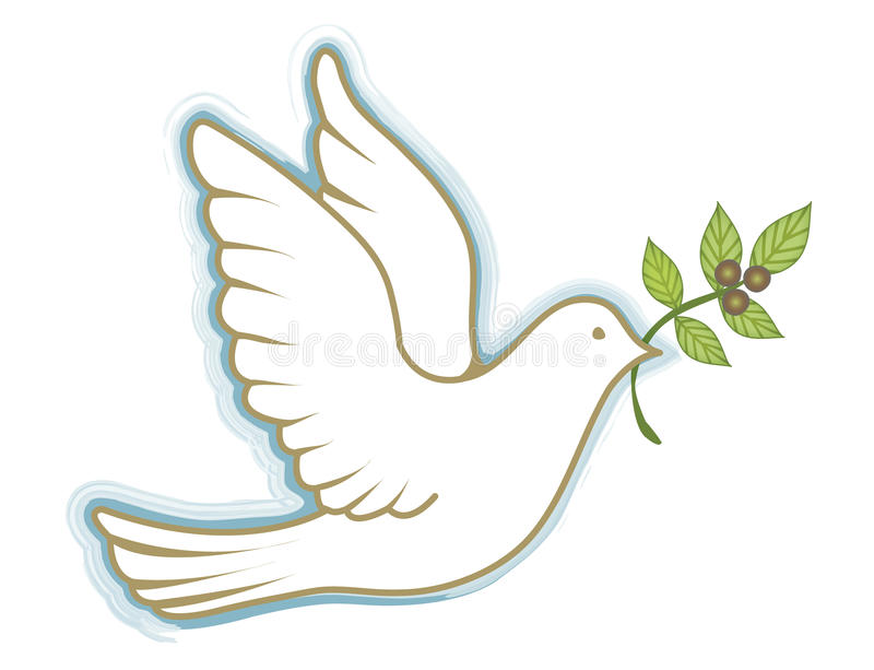 Peace Dove royalty free illustration