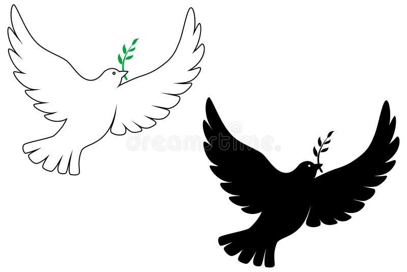 Peace dove royalty free illustration