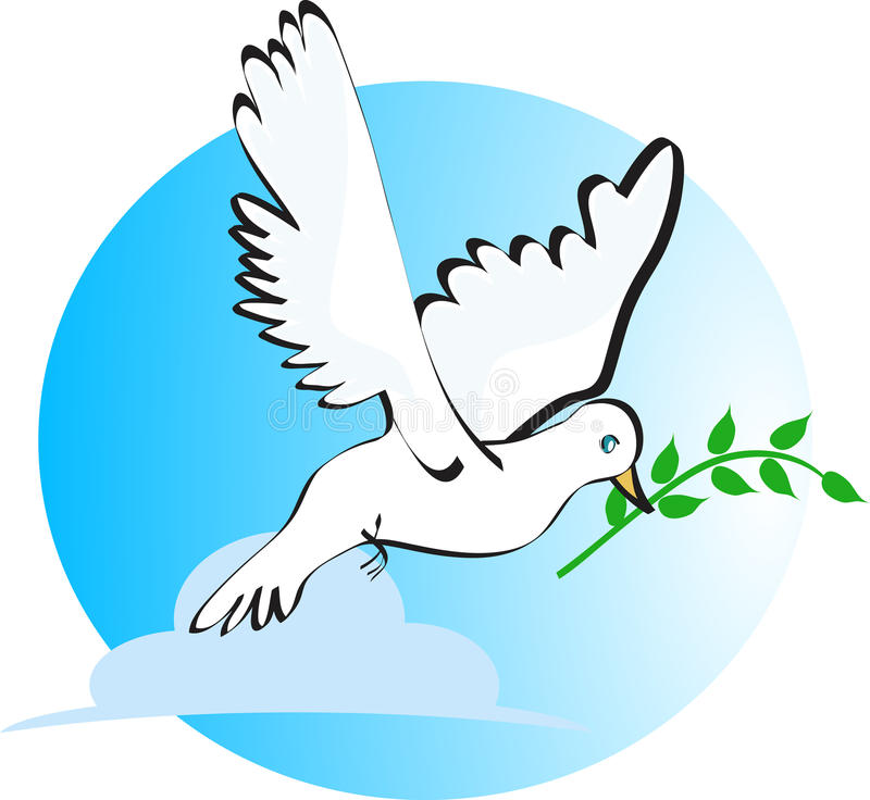 Download Peace dove stock vector. Illustration of blue, concept - 19455107