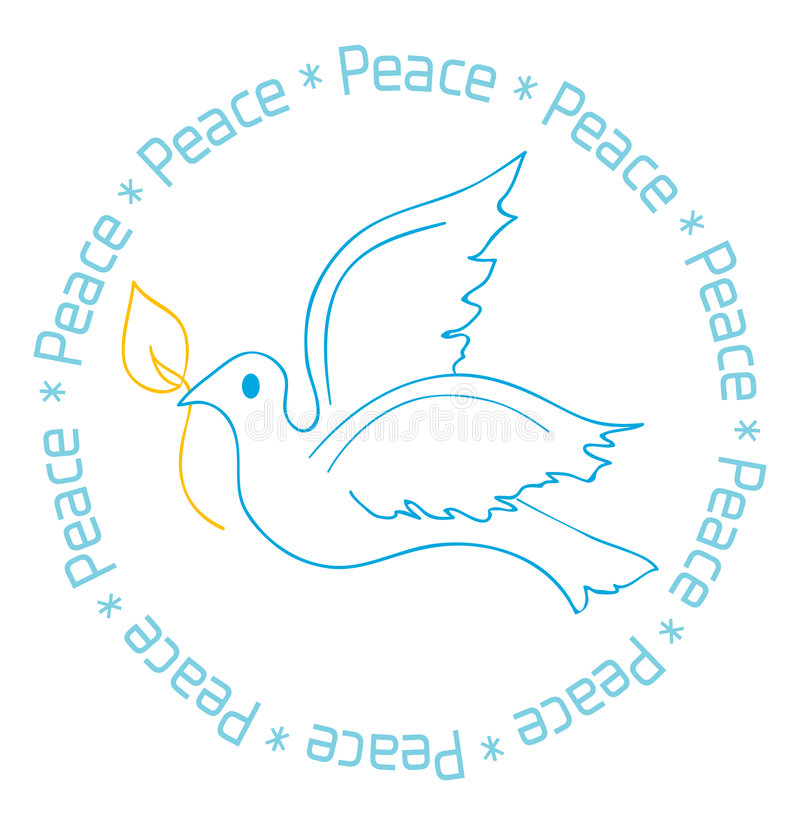 Download Peace Dove Card Design stock vector. Illustration of unity - 3686775