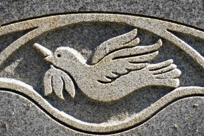 Peace Dove Engraving stock photography