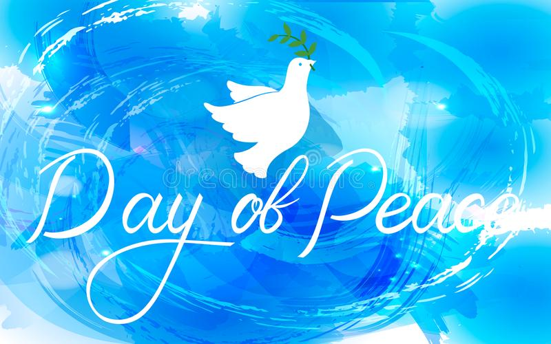 Peace dove with olive branch vector illustration