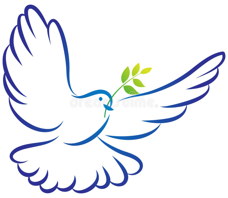 Peace dove stock illustration