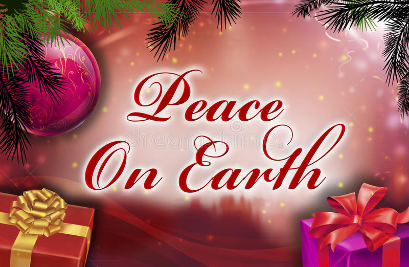 Download Peace on earth wishes stock illustration. Image of holidays - 11665834