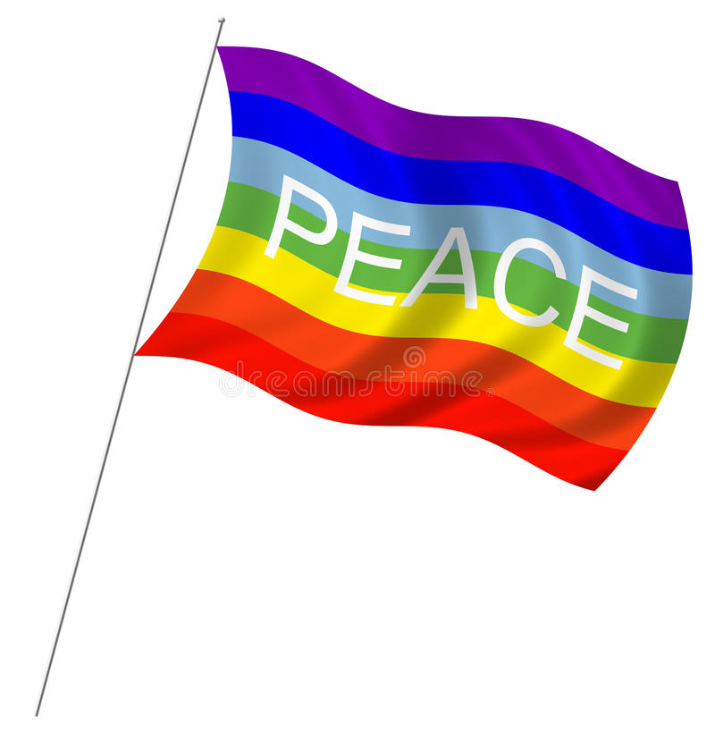 Download Peace flag stock photo. Image of anti, anarchy, radical - 17740302