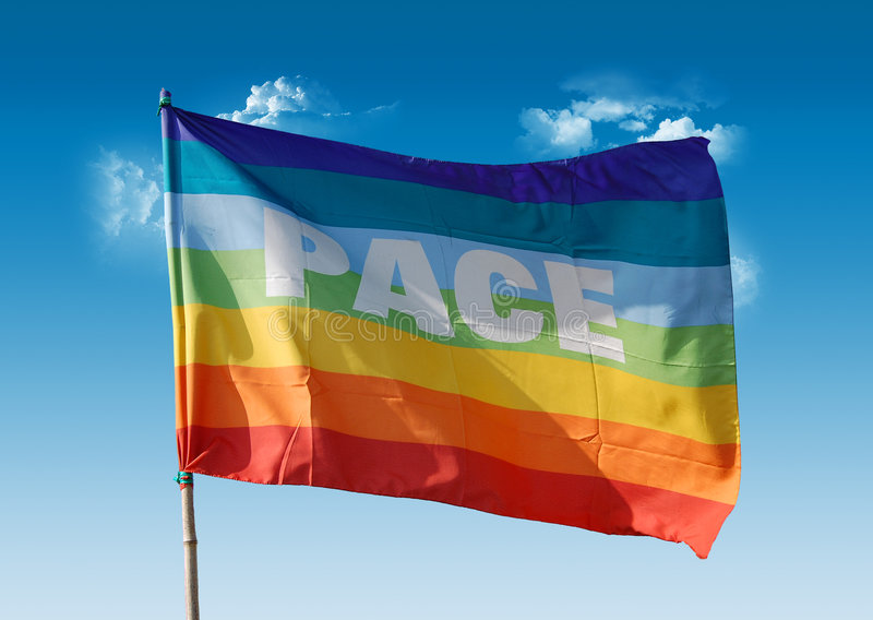 Download Peace flag stock image. Image of orange, harmony, agreement - 4216231