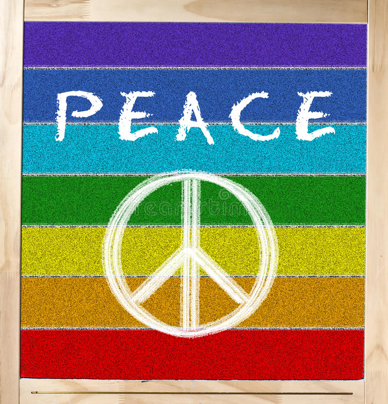 Download Peace Flag On Chalkboard Stock Photo - Image: 28703740