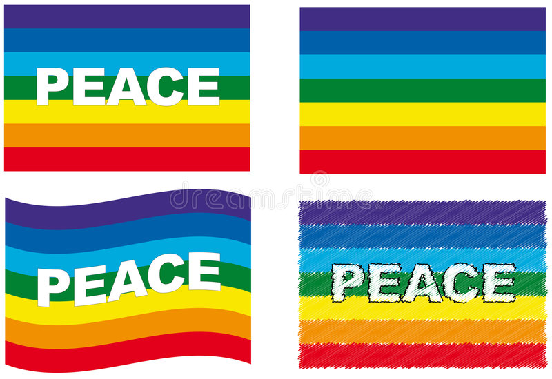 Peace flag set vector illustration
