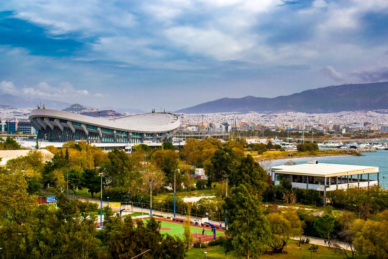 The city of Piraeus royalty free stock photos