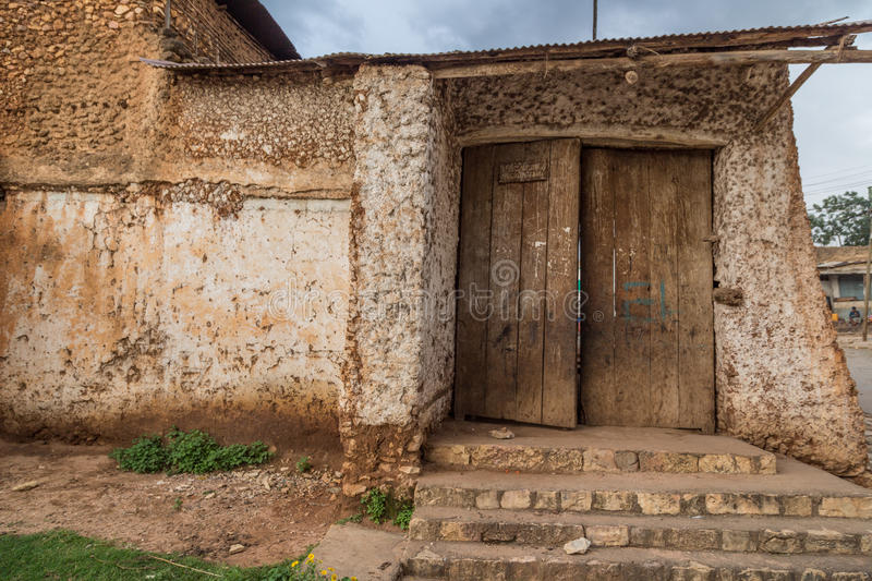 Peace gate. HARAR, ETHIOPIA - JULY 26,2014 - Buda Gate, also known as Badro bari, Karra Budawa, or Hakim Gate, is one of the entrances to Jugol, the fortified stock image