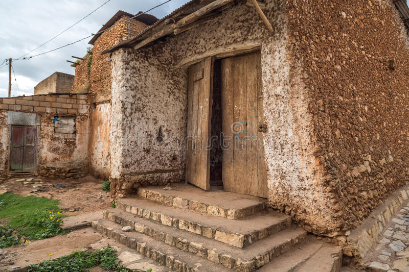 Peace gate. HARAR, ETHIOPIA - JULY 26,2014 - Buda Gate, also known as Badro bari, Karra Budawa, or Hakim Gate, is one of the entrances to Jugol, the fortified stock photos