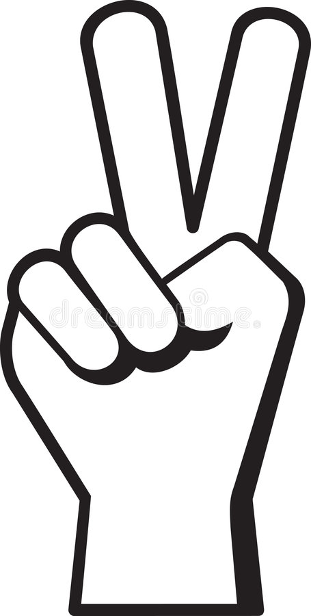 peace hand sign stock vector illustration of finger