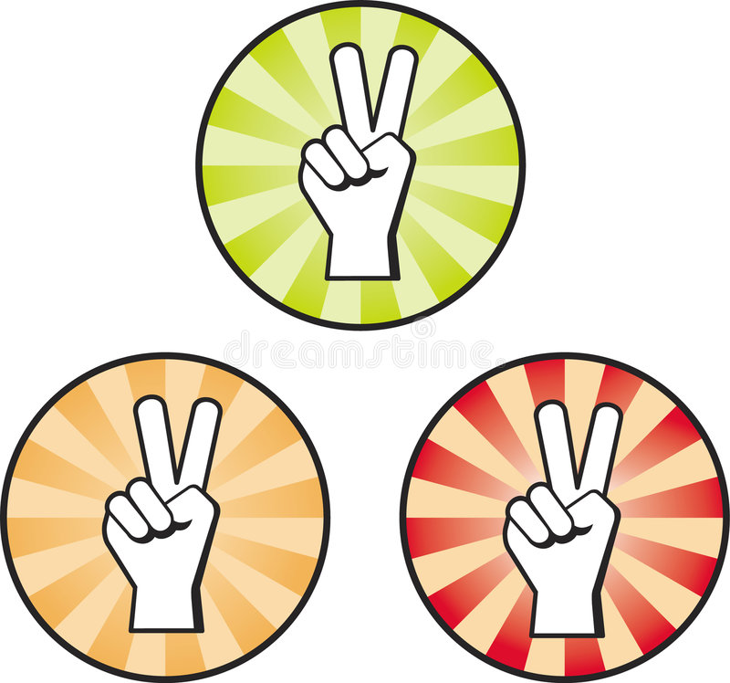 Download Peace Hand Sign stock vector. Image of thumb, peace, hand - 5543006