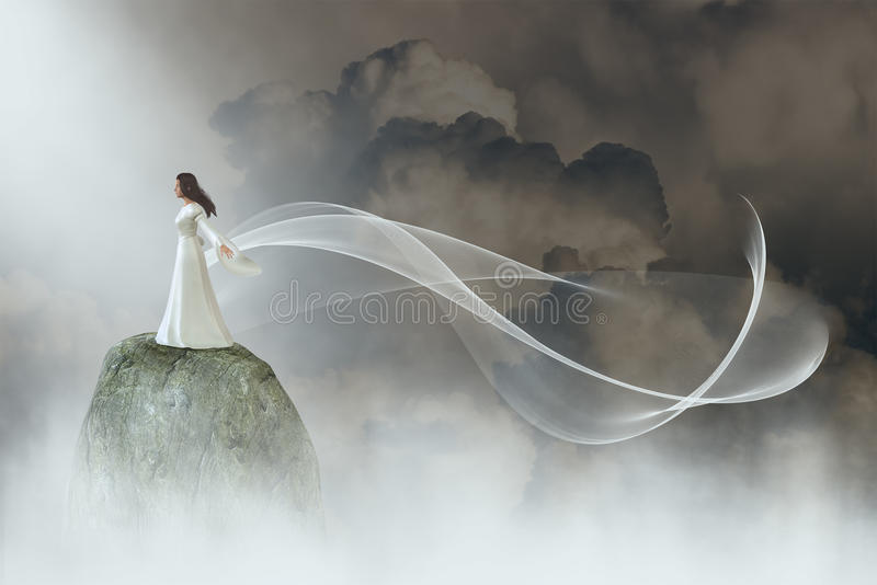 Peace, Hope, Nature, Beauty, Love stock illustration