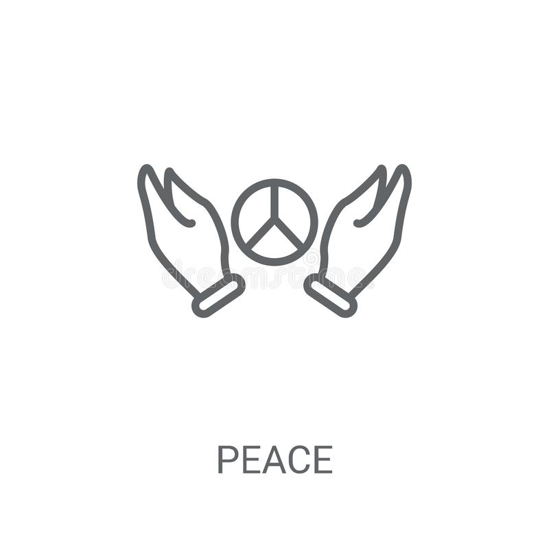 Peace icon. Trendy Peace logo concept on white background from P stock illustration