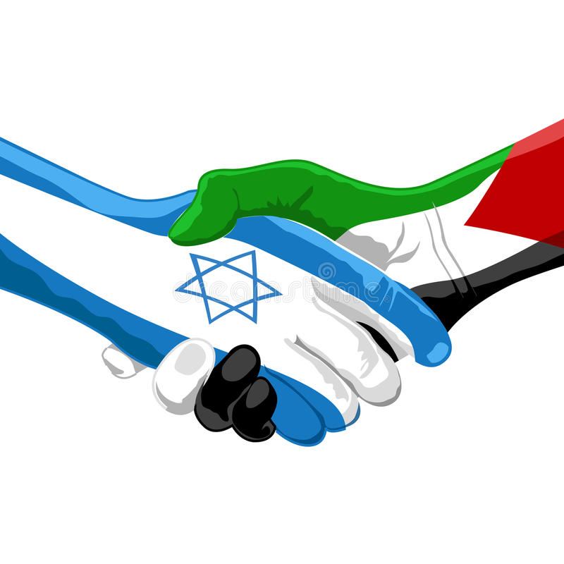 Peace between israel and palestine vector illustration
