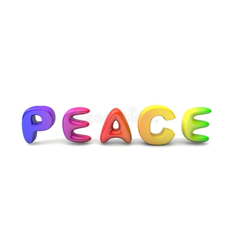 Peace is joy vector illustration