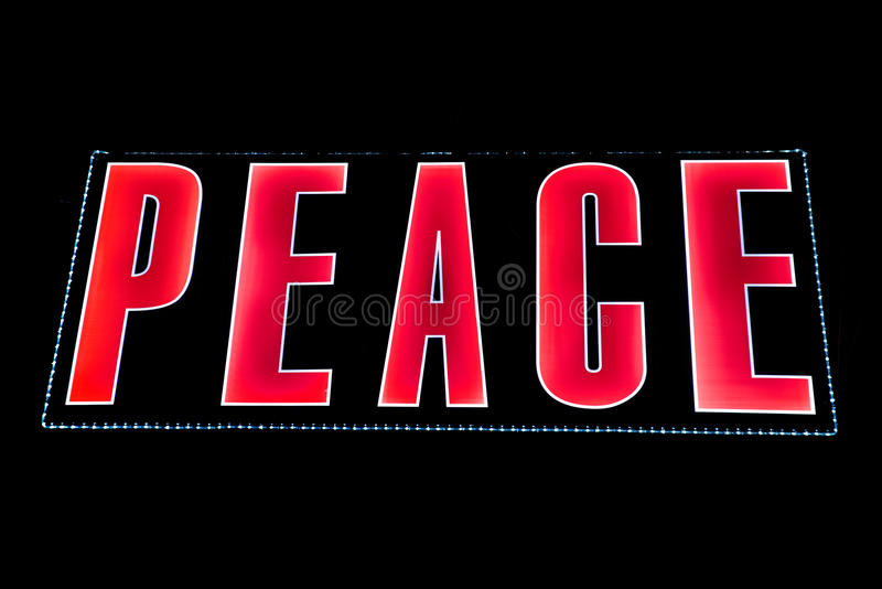 Peace in Lights royalty free stock images