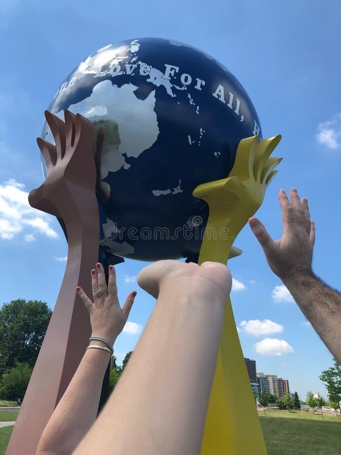 Peace Love Ball stock photography