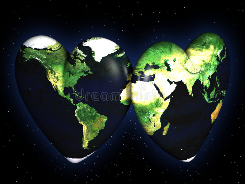 Download Peace and love concept stock illustration. Image of environment - 6681456