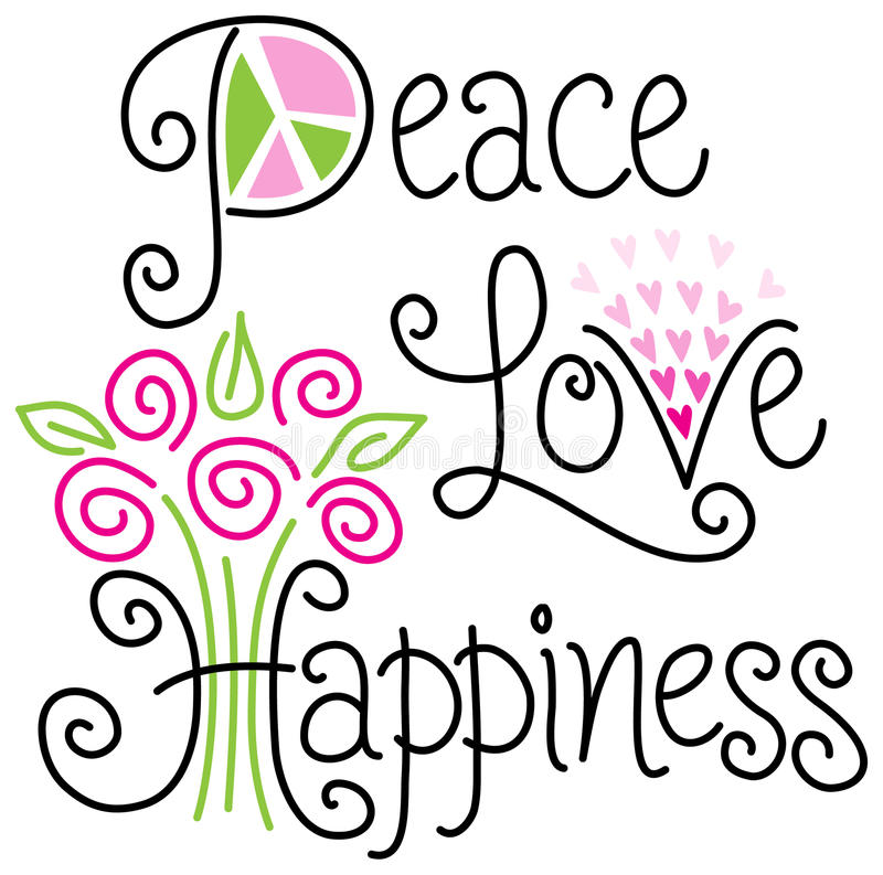 Download Peace Love And Happiness/eps Stock Vector - Image: 41780018