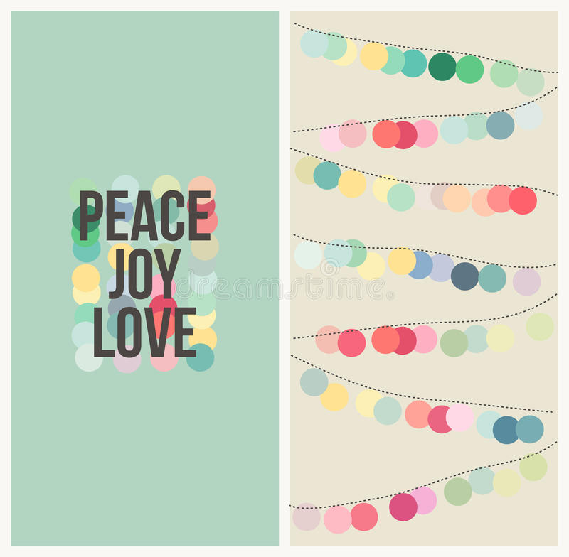 Download Peace Love Joy. Multicolored Christmas Design Stock Images - Image: 34911974
