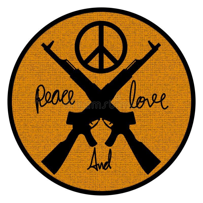 Peace And Love Logo Symbol Stock Illustration Illustration Of Wars