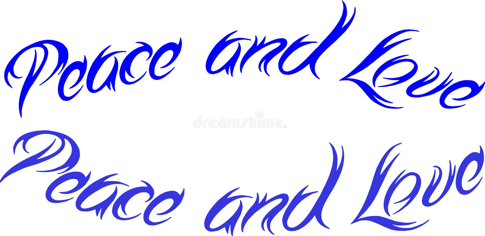 Peace and love sign stock image