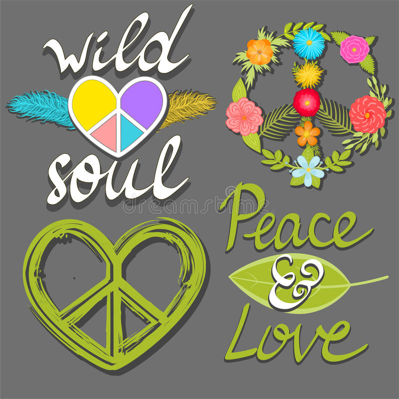 Peace And Love Wild Soul Words Flower Peace Symbol And Heart Peace