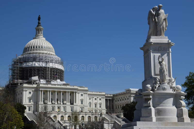 Peace Monument in Washington, DC. Peace Monument, on the grounds of the US Capitol, in Washington, DC royalty free stock images