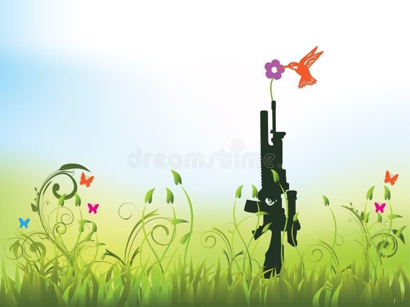 Peace - no more guns vector illustration