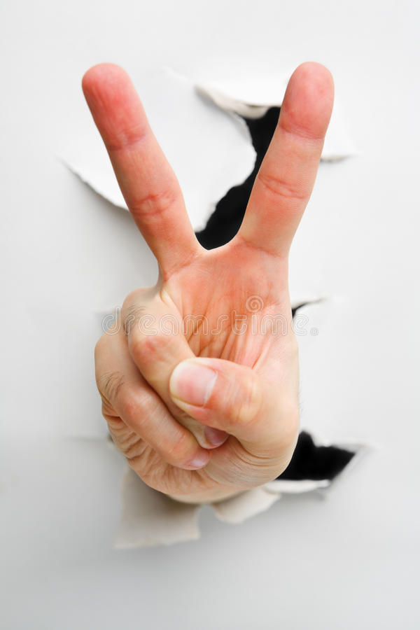 Download Peace Or Number Two Hand Sign Stock Photo - Image of peace, hand: 10093118